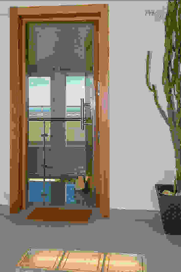 Entrada primera planta Casas de estilo minimalista de Per Hansen Minimalista
