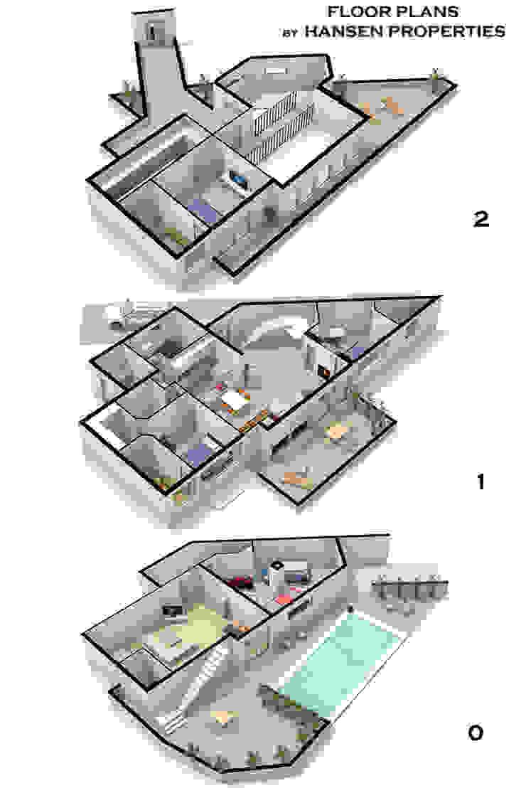 planos Casas de estilo moderno de Per Hansen Moderno