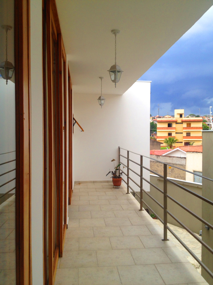 residência em sorocaba Varandas, alpendres e terraços modernos por nzaa arquitetura e urbanismo Moderno