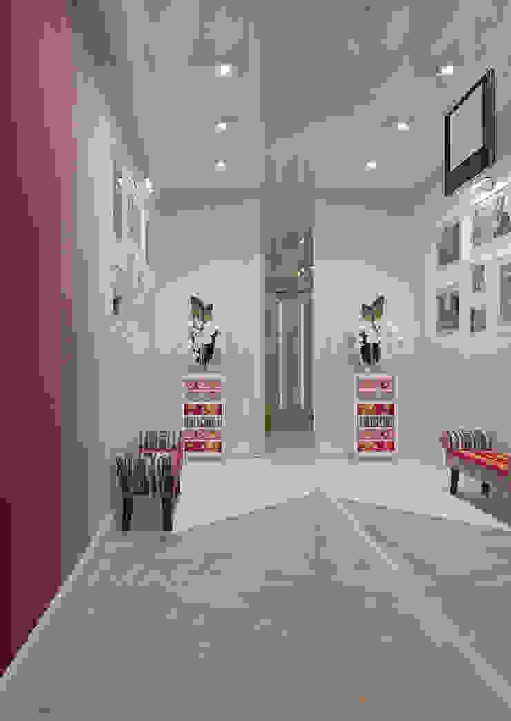 Квартира в ЖК Антарес. Коридор, прихожая и лестница в стиле минимализм от Tutto design Минимализм