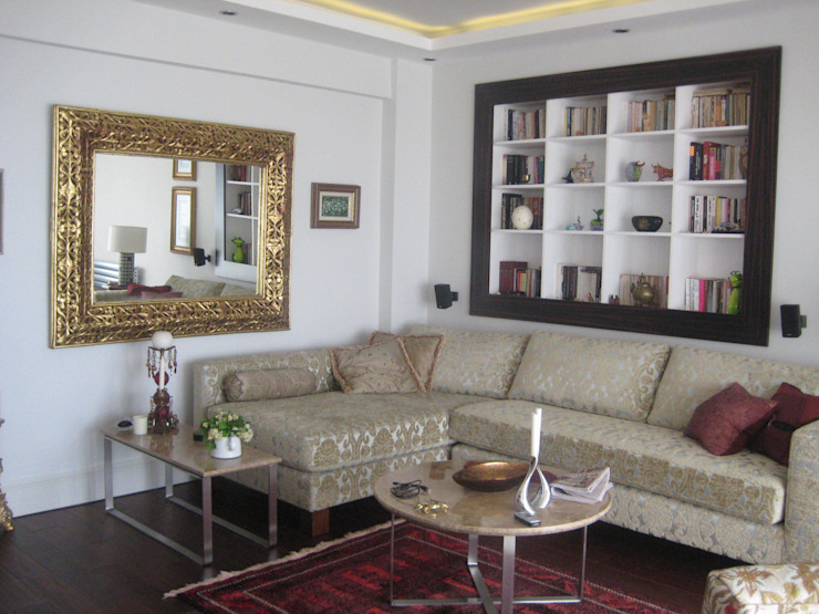 Living room by İdea Mimarlık, Mediterranean