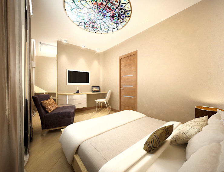 Минимализм в доме Спальня в стиле минимализм от Дизайн студия 'Чехова и Компания' Минимализм