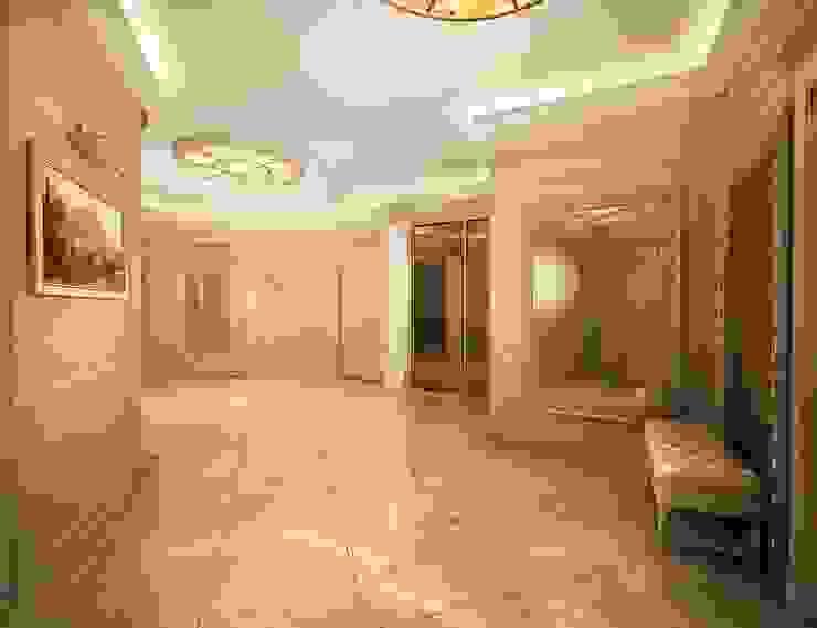 Классика в городе Коридор, прихожая и лестница в классическом стиле от Дизайн студия 'Чехова и Компания' Классический