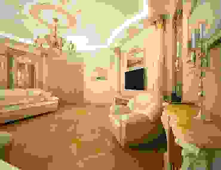 Классика в городе Гостиная в классическом стиле от Дизайн студия 'Чехова и Компания' Классический