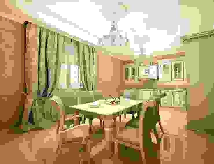 Классика в городе Кухня в классическом стиле от Дизайн студия 'Чехова и Компания' Классический