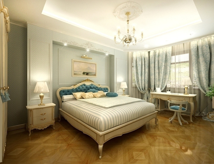 Классика в городе Спальня в классическом стиле от Дизайн студия 'Чехова и Компания' Классический