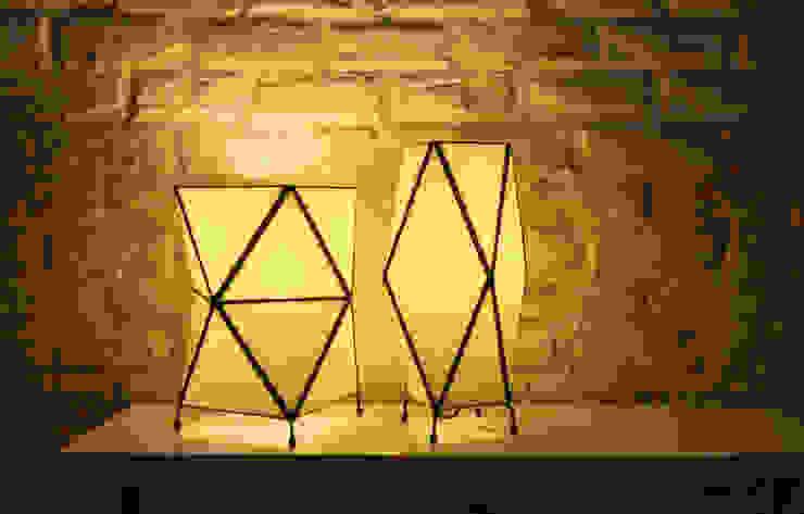 Lámpara Kile:  de estilo industrial de ZetaGlass, Industrial Vidrio