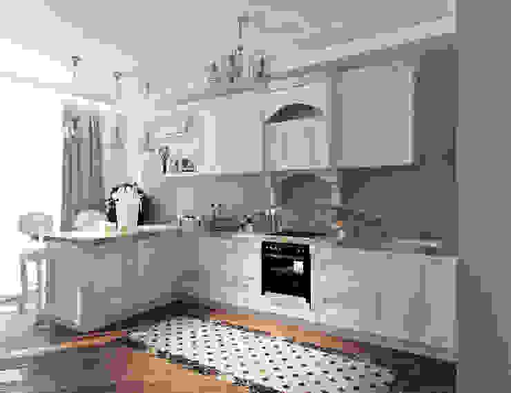Квартира с элементами прованса Кухня в классическом стиле от Дизайн студия 'Чехова и Компания' Классический