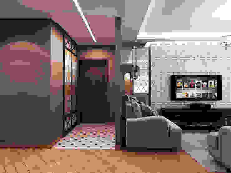 Квартира в стиле фьюжн Коридор, прихожая и лестница в эклектичном стиле от Дизайн студия 'Чехова и Компания' Эклектичный