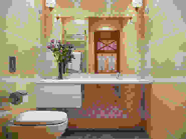 Квартира в стиле фьюжн Ванная комната в стиле минимализм от Дизайн студия 'Чехова и Компания' Минимализм