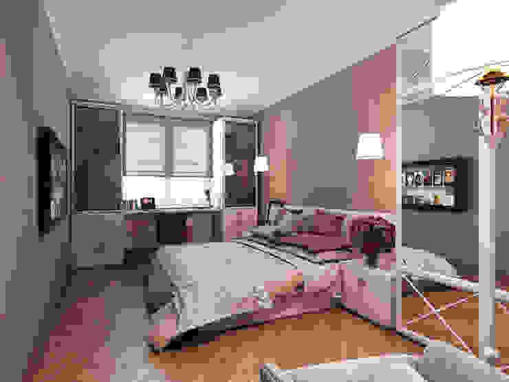 Квартира в стиле фьюжн Спальня в эклектичном стиле от Дизайн студия 'Чехова и Компания' Эклектичный