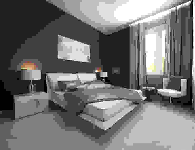 Белое белым Спальня в стиле минимализм от Дизайн студия 'Чехова и Компания' Минимализм