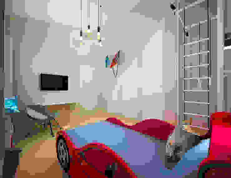 Белое белым Детская комнатa в стиле минимализм от Дизайн студия 'Чехова и Компания' Минимализм