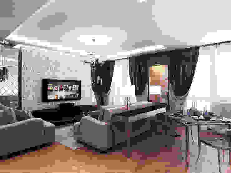 Дизайн студия 'Чехова и Компания' ห้องนั่งเล่น