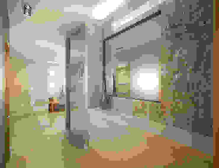 Белое белым Коридор, прихожая и лестница в стиле минимализм от Дизайн студия 'Чехова и Компания' Минимализм