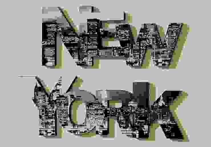 Lettres décoratives - 3D New York Skyline par wall-art.fr Moderne