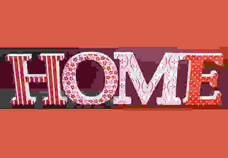 3D HOME rouge par wall-art.fr Éclectique