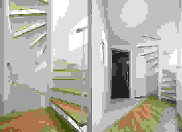 株式会社 建築集団フリー 上村健太郎 Ingresso, Corridoio & Scale in stile moderno