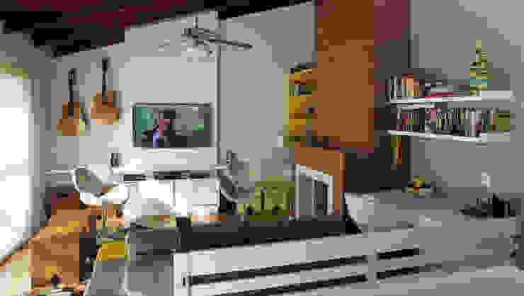 Sala de Estar Salas de estar modernas por Quadrilha Design Arquitetura Moderno