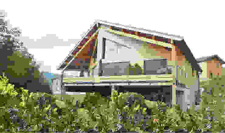 Maison BBC à Bellegarde-Sur-Valserine Maisons originales par Philippe GUILLOUX - BYG Architecte Éclectique