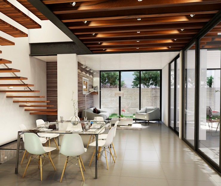 Sala/Comedor Salones modernos de BANG arquitectura Moderno