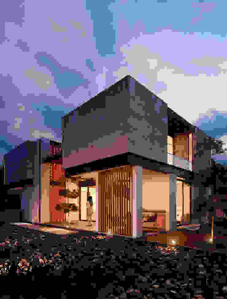 Fachada Posterior Casas minimalistas de BANG arquitectura Minimalista