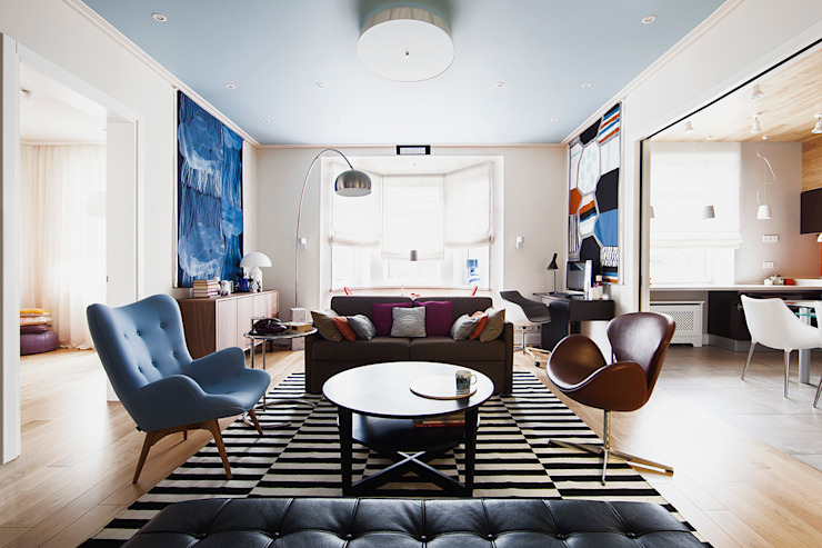 гостиная от Ирина Крашенинникова: интерьерный дизайн и декорирование