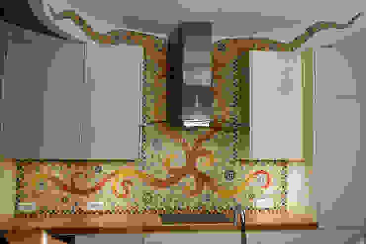 Crédence et mur supérieur par Art Mosaico Moderne