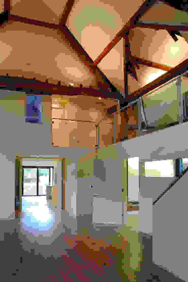 Pye Barn Modern corridor, hallway & stairs by David Nossiter Architects Modern