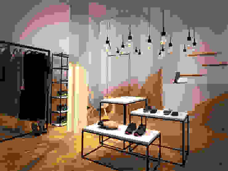 OAK ROOM 1 Espacios comerciales de estilo escandinavo de lapeineta interiorismo Escandinavo