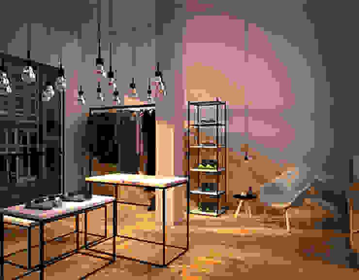 OAK ROOM 1I Espacios comerciales de estilo escandinavo de lapeineta interiorismo Escandinavo