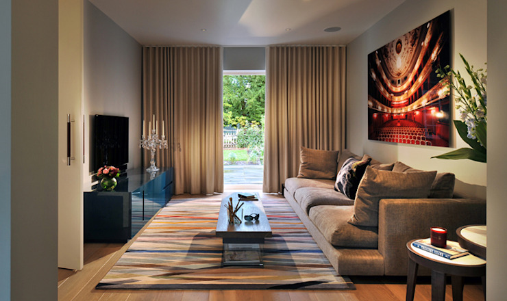 Rotherwick Road - ​Hampstead Garden Suburbs 'Arts & Crafts' House Modern living room by TG Studio Modern