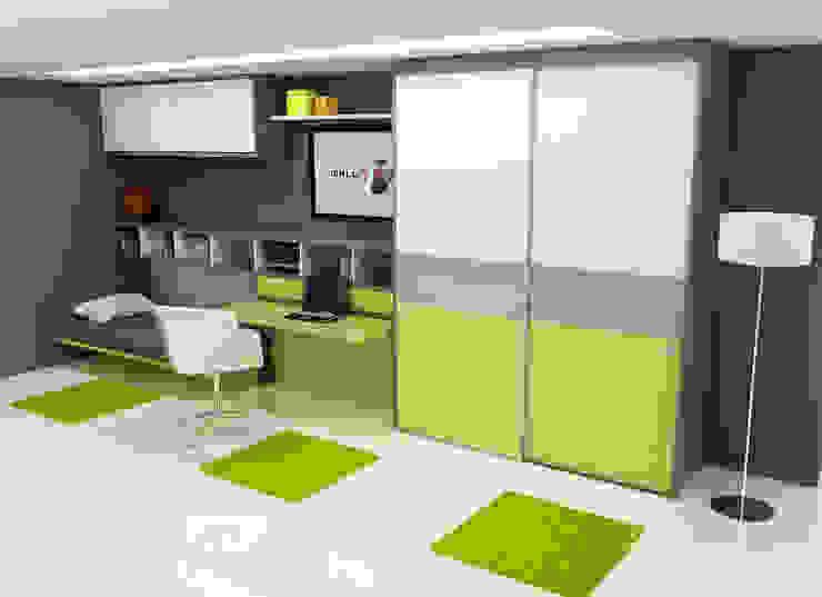 Habitación juvenil cama abierta. de FORATS CALVET Moderno