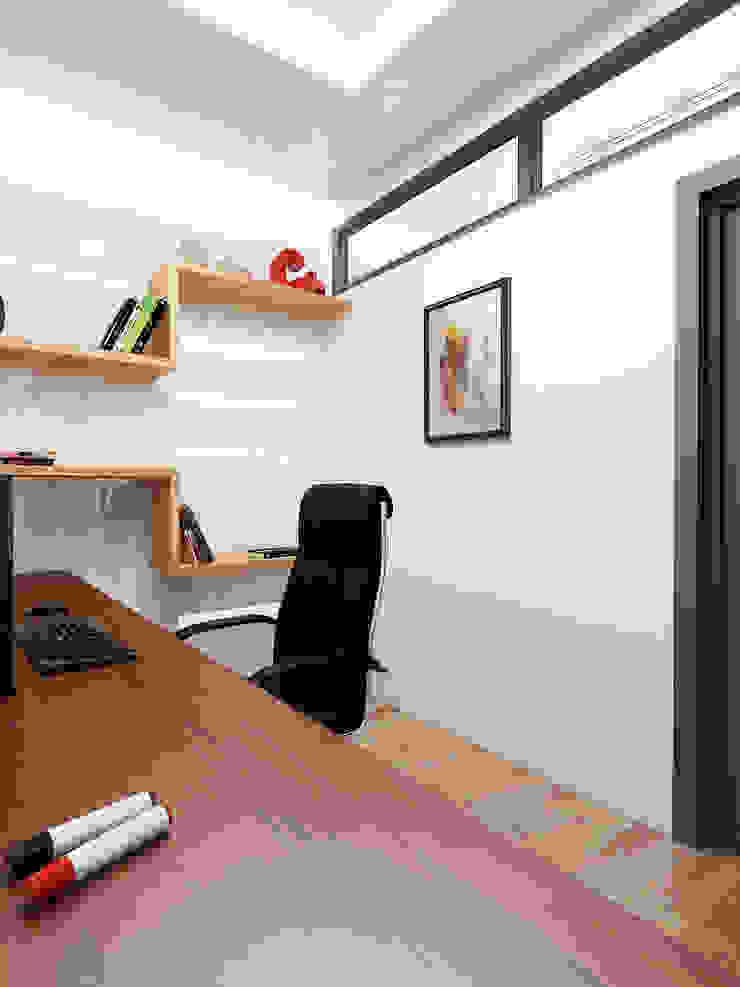 Дерево и бетон Рабочий кабинет в стиле лофт от Дизайн студия Александра Скирды ВЕРСАЛЬПРОЕКТ Лофт