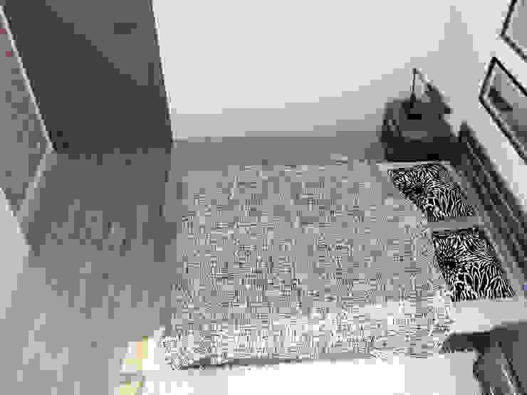 Дерево и бетон Спальня в стиле лофт от Дизайн студия Александра Скирды ВЕРСАЛЬПРОЕКТ Лофт
