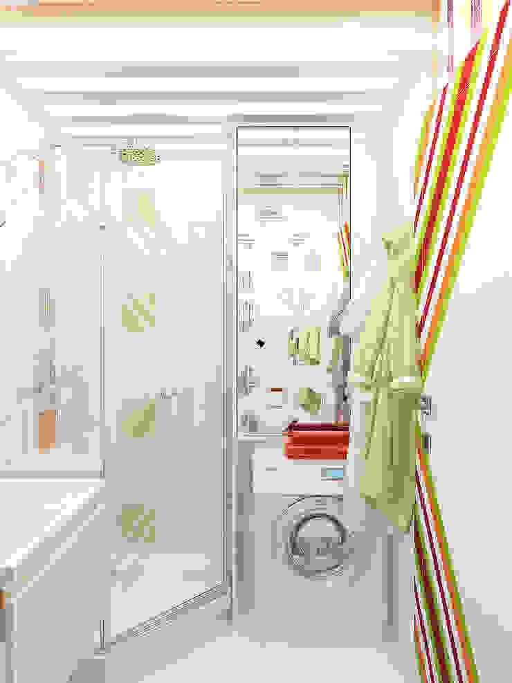 Игра цвета в зеркалах Ванная комната в эклектичном стиле от Дизайн студия Александра Скирды ВЕРСАЛЬПРОЕКТ Эклектичный