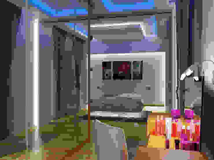 Ночь Спальня в эклектичном стиле от Дизайн студия Александра Скирды ВЕРСАЛЬПРОЕКТ Эклектичный