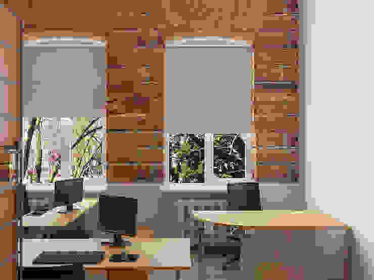 Industrial style office buildings by Дизайн студия Александра Скирды ВЕРСАЛЬПРОЕКТ Industrial