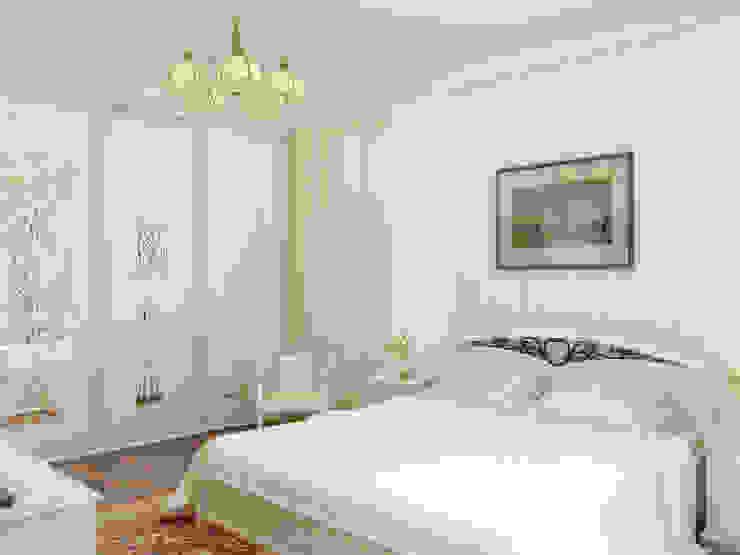 Нежность Спальня в классическом стиле от Дизайн студия Александра Скирды ВЕРСАЛЬПРОЕКТ Классический