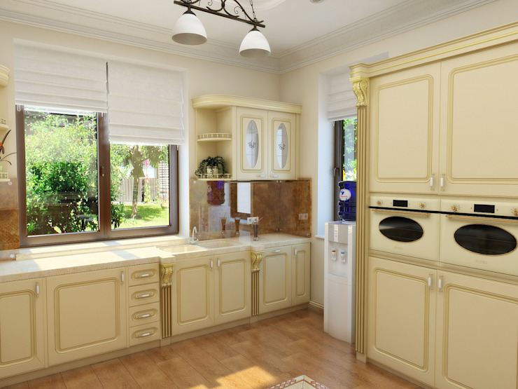 Нежность Кухня в классическом стиле от Дизайн студия Александра Скирды ВЕРСАЛЬПРОЕКТ Классический