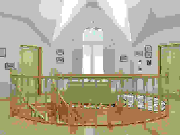 Нежность Коридор, прихожая и лестница в классическом стиле от Дизайн студия Александра Скирды ВЕРСАЛЬПРОЕКТ Классический