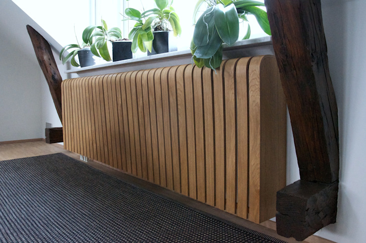 Oak Radiator Cover de Cool Radiators? It's Covered! Escandinavo Madera Acabado en madera