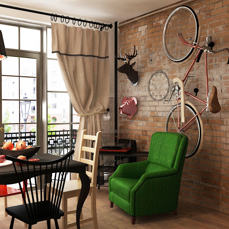 Dining room by homify, Industrial