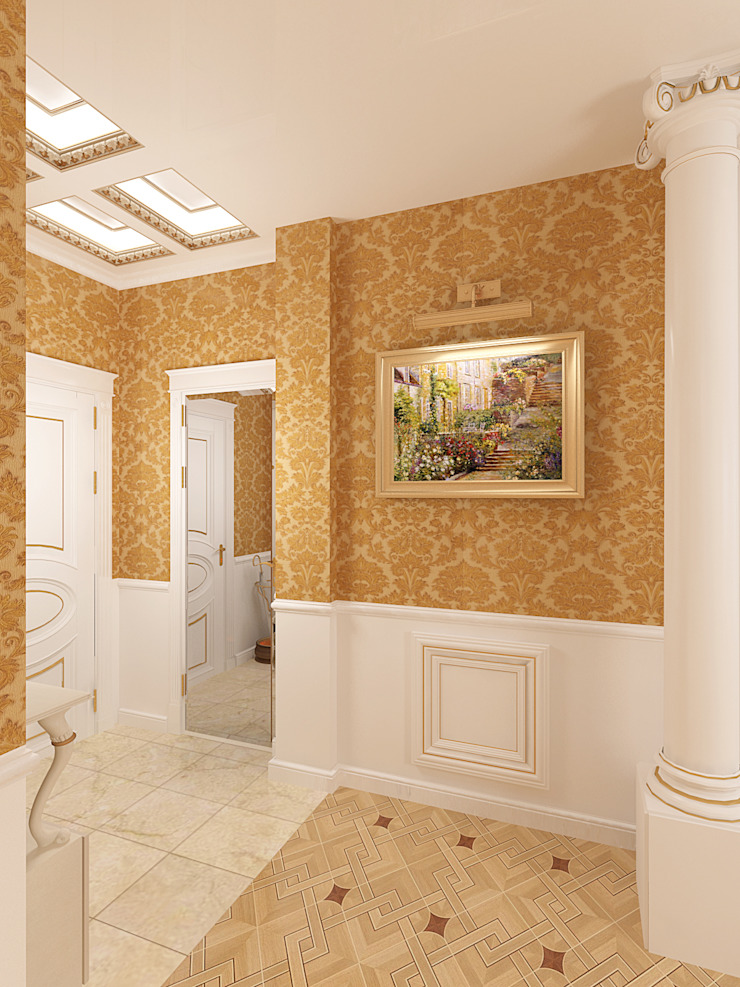 Неоклассика Коридор, прихожая и лестница в классическом стиле от Дизайн студия Александра Скирды ВЕРСАЛЬПРОЕКТ Классический