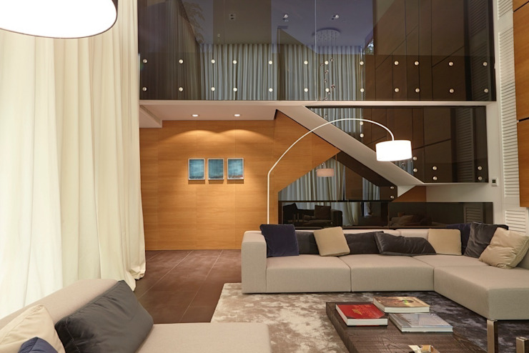 """Villa """"La Magnaneraie"""" – Villefranche-sur-mer Soggiorno moderno di C.A.T di Bertozzi & C s.n.c Moderno"""