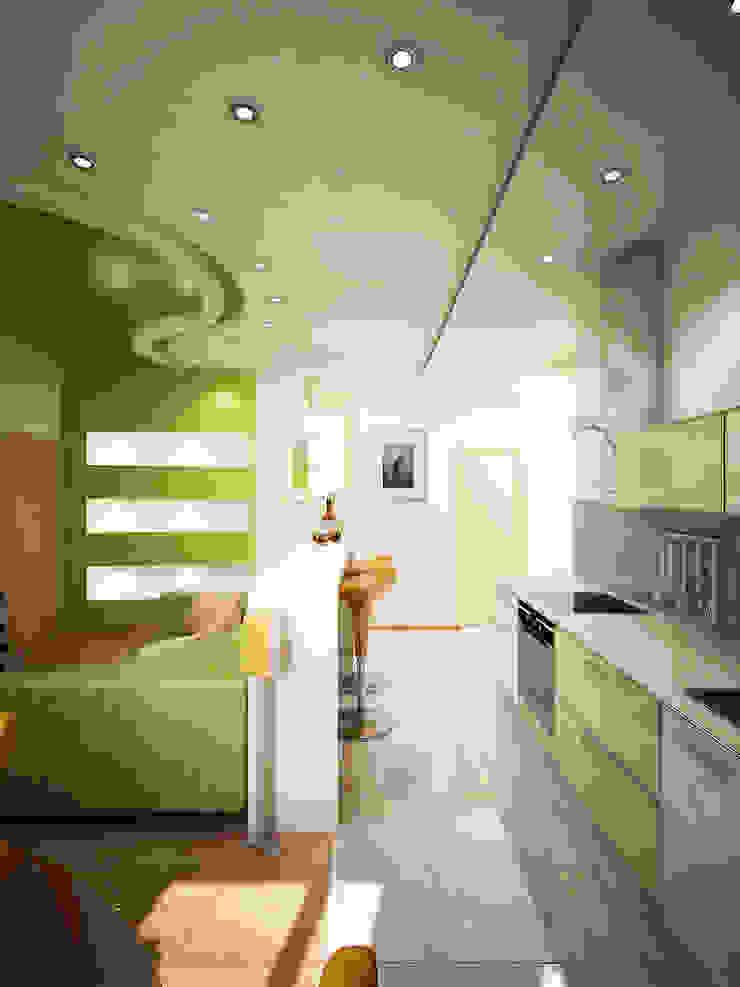 Любимый цвет Кухни в эклектичном стиле от Дизайн студия Александра Скирды ВЕРСАЛЬПРОЕКТ Эклектичный