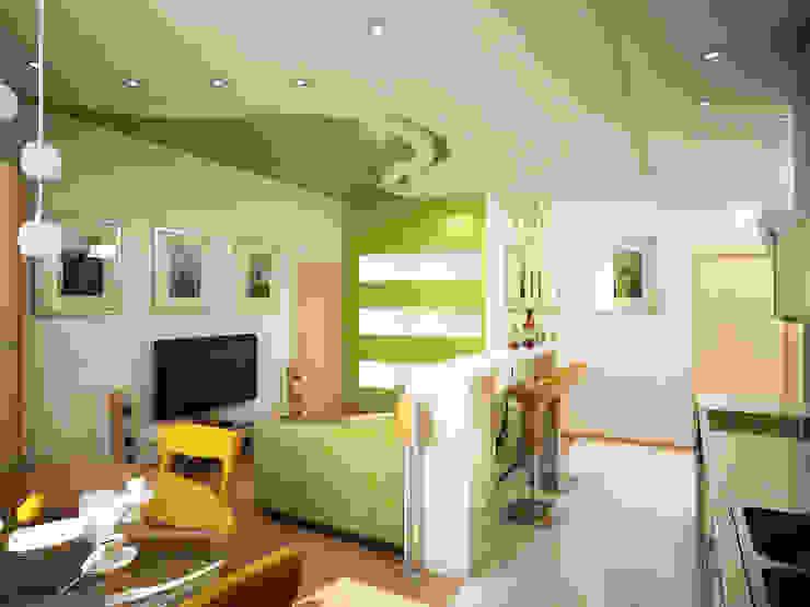 Любимый цвет Столовая комната в эклектичном стиле от Дизайн студия Александра Скирды ВЕРСАЛЬПРОЕКТ Эклектичный
