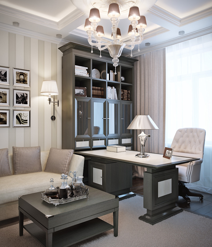 Classic style study/office by EJ Studio Classic