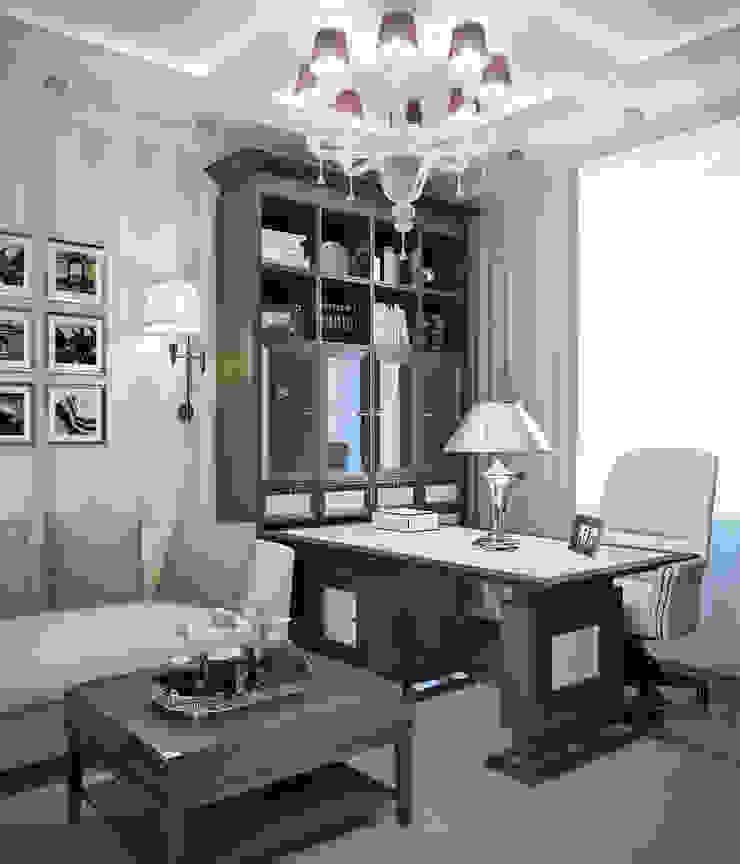 квартира на Аптекарской набережной Рабочий кабинет в классическом стиле от EJ Studio Классический