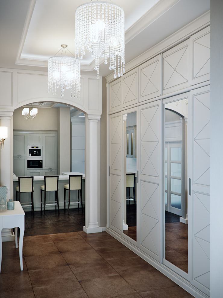 Classic style corridor, hallway and stairs by EJ Studio Classic